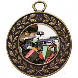 Bronze Rifle Shooting Medal 45mm