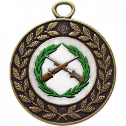 Bronze Small Bore Rifle Shooting Medal 45mm