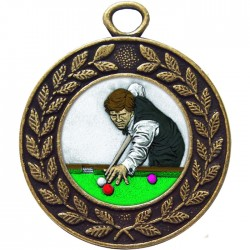 Bronze Snooker Medal 45mm