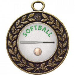Bronze Softball Medal 45mm