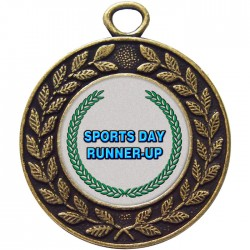 Bronze Sports Day Runner Up Medal 45mm