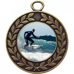 Bronze Surfing Medal 45mm