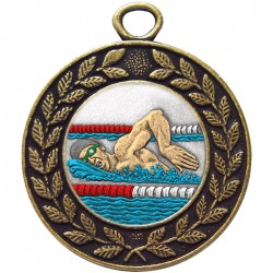 Bronze Swimming Medal 45mm
