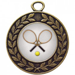 Bronze Tennis Medal 45mm