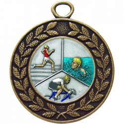 Bronze Triathlon Medal 45mm
