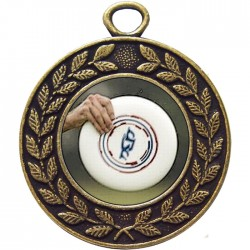 Bronze Frisbee Medal 45mm