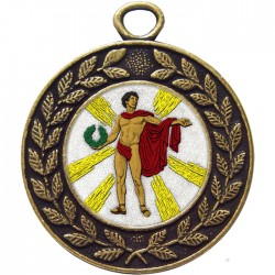 Bronze Victory Male Medal 45mm