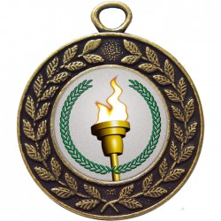 Bronze Victory Torch Medal 45mm