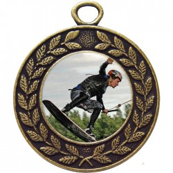 Bronze Wake Boarding Medal 45mm