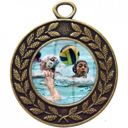 Bronze Water Polo Medal 45mm