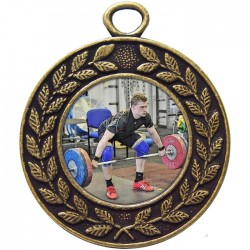 Bronze Weightlifting Medal 45mm