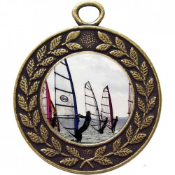Bronze Windsurfing Medal 45mm