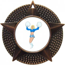 Bronze Cheerleader Medal 48mm