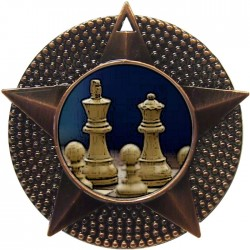 Bronze Chess Medal 48mm