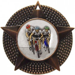 Bronze Cycling Medal 48mm