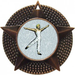 Bronze Male Dance Medal 48mm