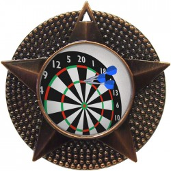 Bronze Darts Medal 48mm
