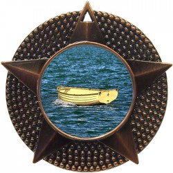 Bronze Wooden Dinghy Medal 48mm