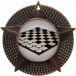 Bronze Draughts Medal 48mm