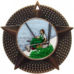Bronze Fishing Medal 48mm