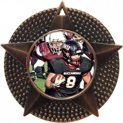 Bronze American Football Medal 48mm