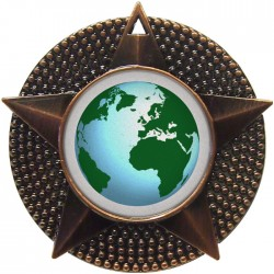 Bronze Globe Medal 48mm
