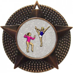 Bronze Gymnastics Floor Medal 48mm