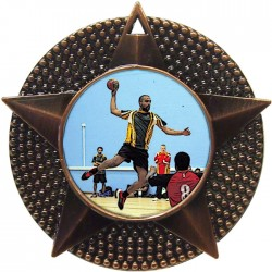 Bronze Handball Medal 48mm