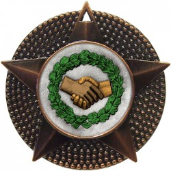 Bronze Handshake Medal 48mm