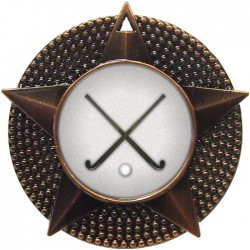 Bronze Hockey Medal 48mm