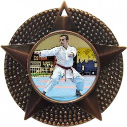 Bronze Karate Medal 48mm