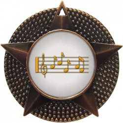 Bronze Music Medal 48mm