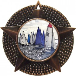 Bronze Sailing Medal 48mm