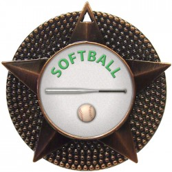 Bronze Softball Medal 48mm