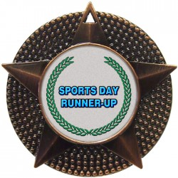 Bronze Sports Day Runner Up Medal 48mm
