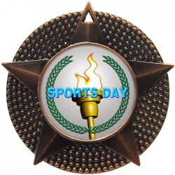 Bronze Sports Day Torch Medal 48mm