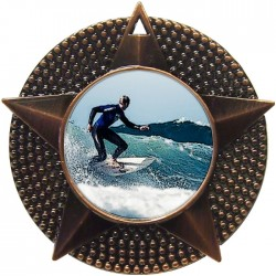 Bronze Surfing Medal 48mm