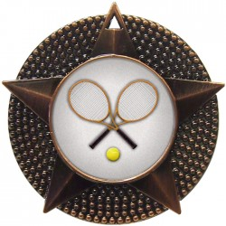 Bronze Tennis Medal 48mm
