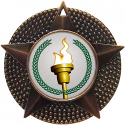 Bronze Victory Torch Medal 48mm