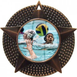Bronze Water Polo Medal 48mm