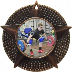 Bronze Weightlifting Medal 48mm