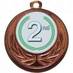 Bronze 2nd Place Medal 40mm
