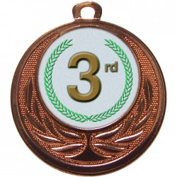 Bronze 3rd Place Medal 40mm