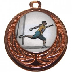 Bronze Discus Medal 40mm