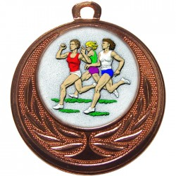Bronze Female Athlete Medal 40mm