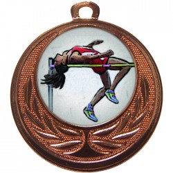 Bronze High Jump Medal 40mm