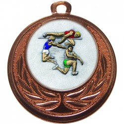 Bronze Jumping Athlete Medal 40mm
