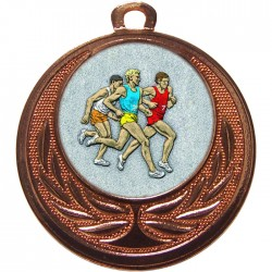 Bronze Male Athlete Medal 40mm