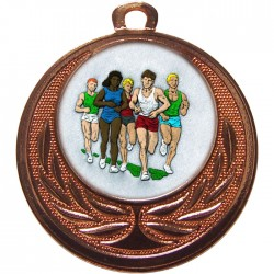 Bronze Marathon Medal 40mm