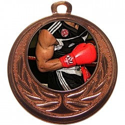 Bronze Boxing Medal 40mm